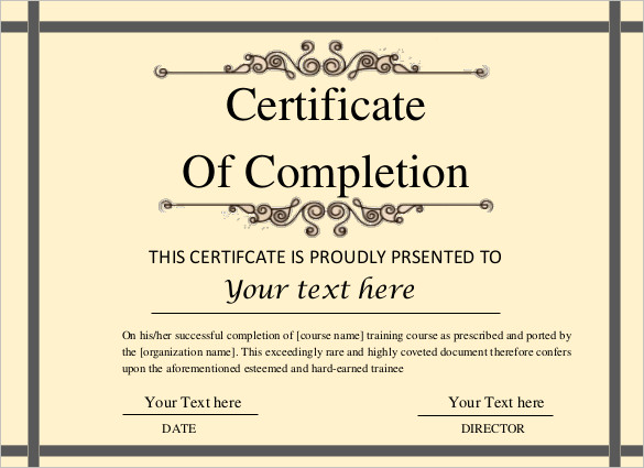 editable-printable-doc-Certificate-of-Completion-Template - certification of completion sample
