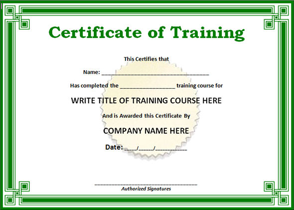 Training-certificate-design-format-certificate-of-completion-word - Certificate Samples In Word Format