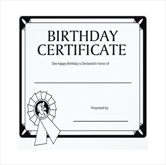 Download 36 Birthday Certificates Certificate Templates