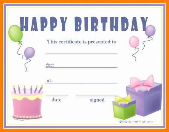 Download 36 Birthday Certificates Certificate Templates