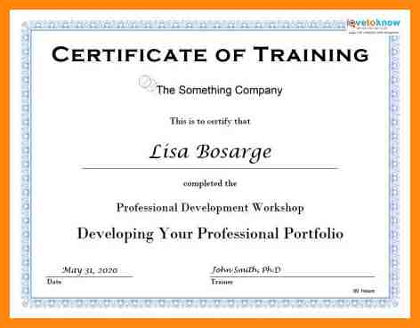 Certificate Templates - Certification Document Template