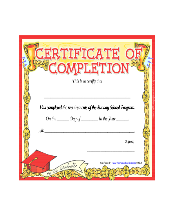 Download-pdf-Sunday-School-Completion-Certificate
