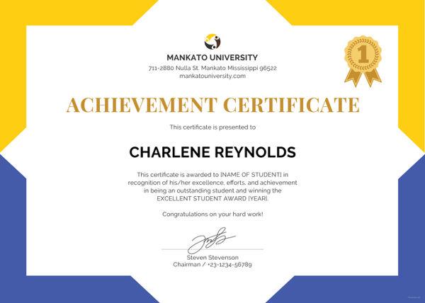 Certificate Templates - school certificates pdf