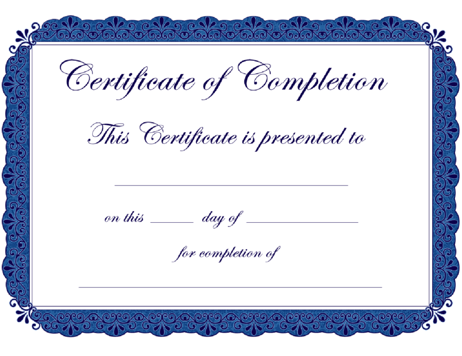 Colorful Sample Certificate Of Completion Embellishment Online