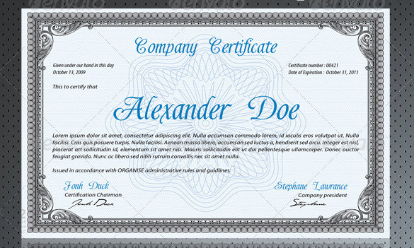 free psd certificate template - Jolivibramusic - certification templates