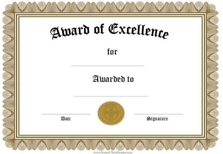 Certificate Word Template certificates templates free