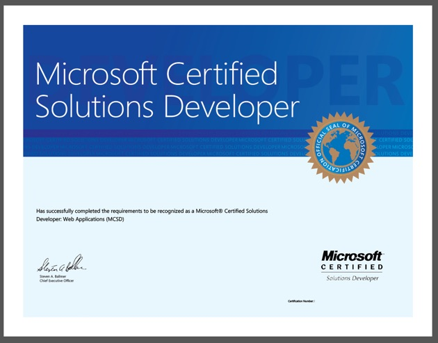 Can you get a Job Easier if you have a MCSD Certification? - certificate microsoft