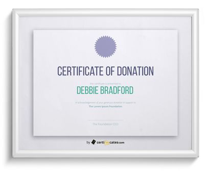 20+ Free Certificate Templates for Word Certifreecates - donation certificate template