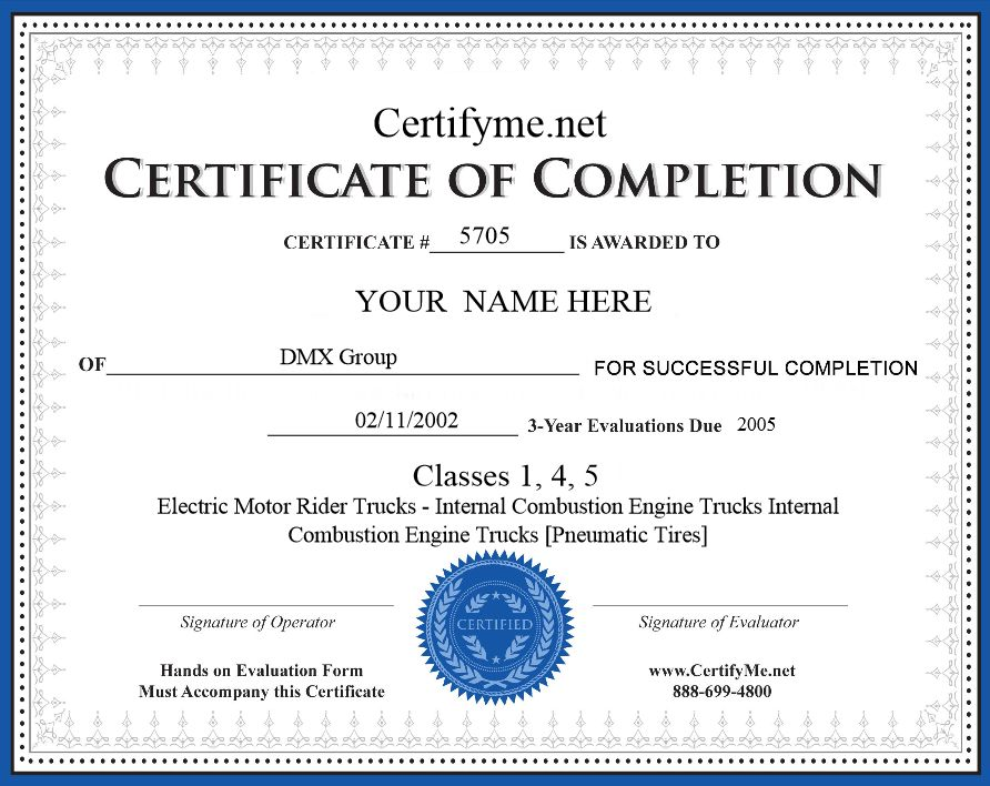 Forklift License Card, Get Your Forklift Certificate Today! - free training certificates