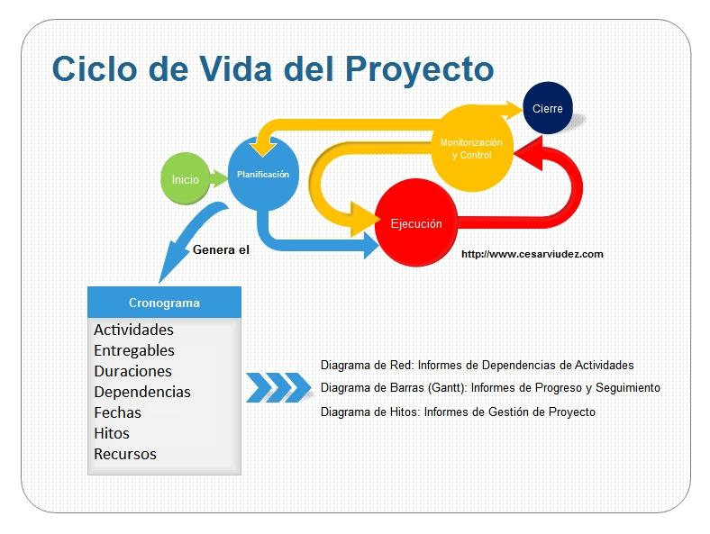 Ciclo de Vida del Proyecto Cronograma http\/\/wwwcesarviudez - resume cheat sheet