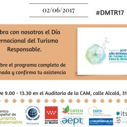 Día Mundial del Turismo Responsable 2017 en Madrid