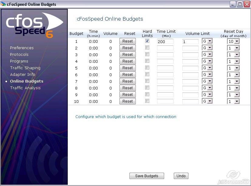 cFosSpeed Documentation - Online Budgets - Internet-Accelerator +
