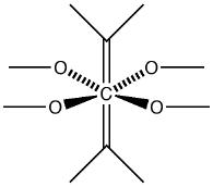 Hexa-coordinate carbon