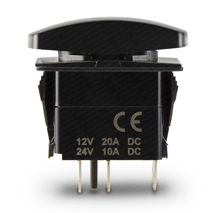CH4X4 Marine Rocker Switch 12V Symbol - Single throw ON-OFF switch