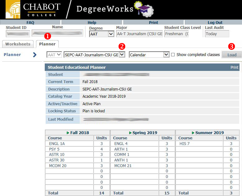 DegreeWorks How To for Students - Chabot College