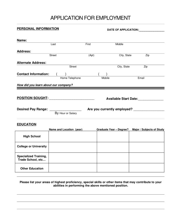 Cha-Ching Consignments  Job Application - Job Application