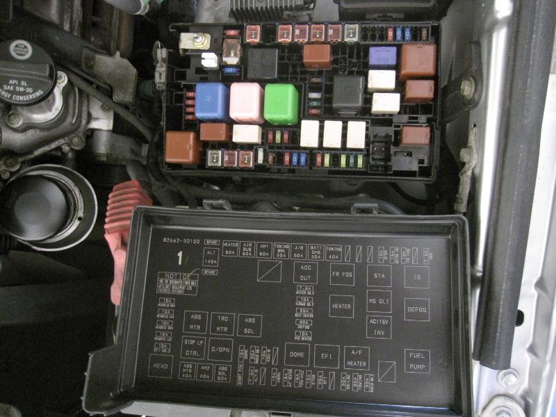 2008 toyota 4 runner fuse box