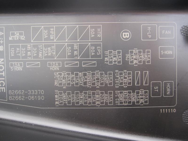 2007 toyota camry hybrid fuse box
