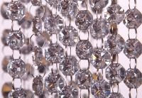 Buy Glass Crystal Garland Strand 18mm x 1m - Silver from ...
