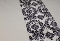 Black-and-White-Damask-Runner | Chairs Covers and More