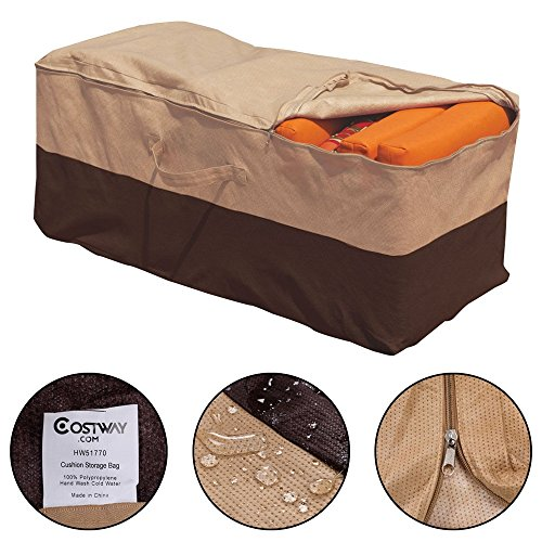 Cushion Storage Bag Patio Furniture Chaise Organizer