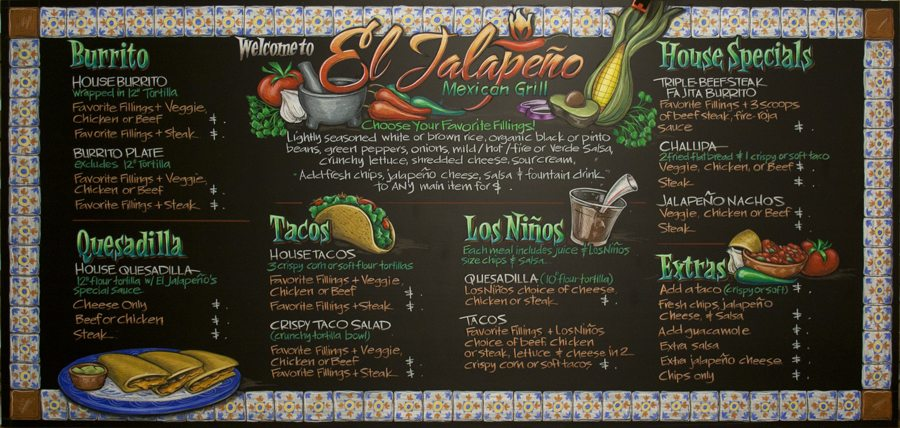 The Art of Chalkboard Artistry Chalkboards, Menu and Menu boards - catering menu template free