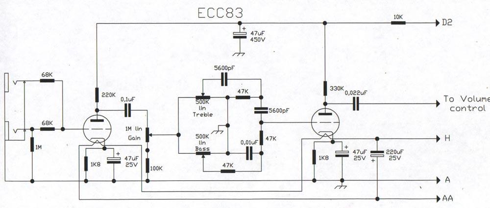 Bass Tube Amp Schematic Wiring Diagram
