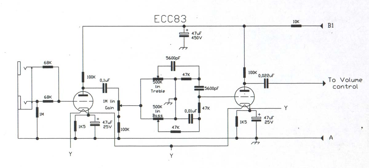 Champ CBA-1000 Amplifier - Schematic Diagram