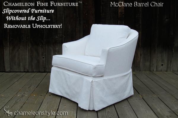 Mcclane Barrel Chair Slipcovered Barrel Chair Chameleon Fine Furniture