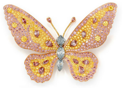 Rainbow-Butterfly-Brooch-Blue-Pink-Yellow-D2