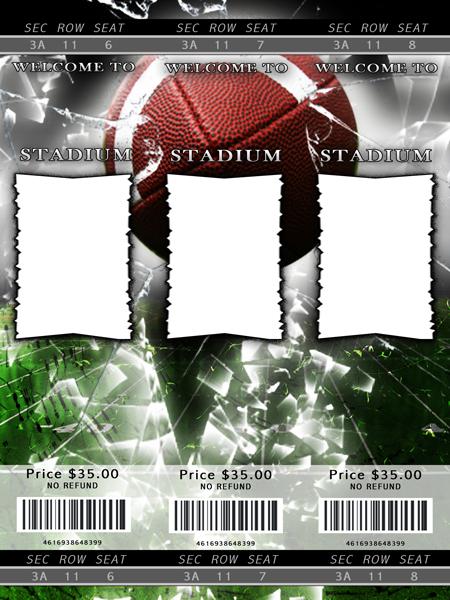 football card template