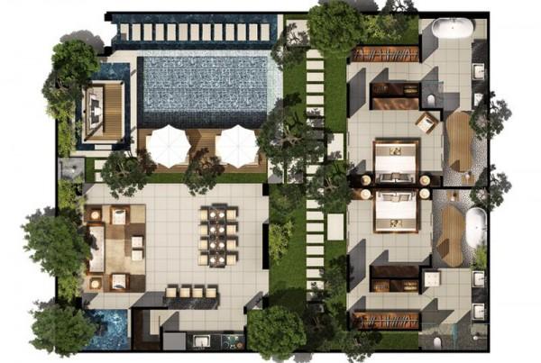 Contemporary Pool Villas Chandra Bali Villas Seminyak