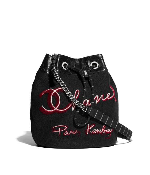 Fascinating Drawstring Bag Black Red Embroidered Wool Calfskin Silver Tone Metal Packshot Default A57540y83723c1381 8804057350174 Drawstring Bags Near Me Drawstring Bag Small