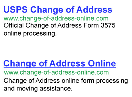 USPS Change of Address makes USPS Address Change online easy - Address Change Form