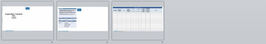 Organization Transition Plan - Change management methodology - transition plan template