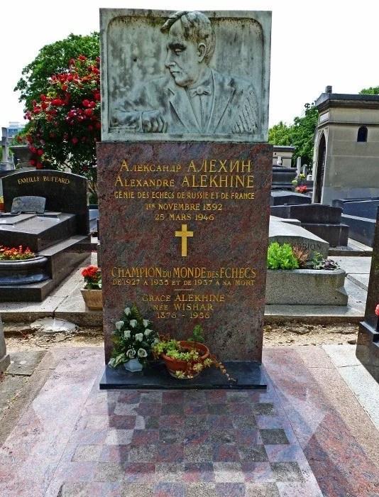 Montparnasse Cemetery Alexander Alekhine chess