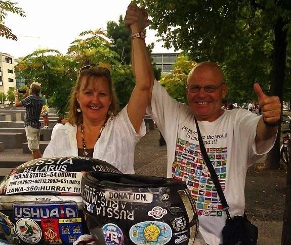 Vladimir Yarets motorcycle around the world Larissa Milne