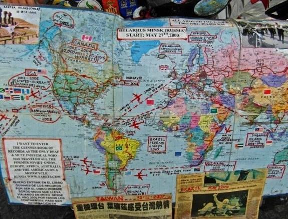 Vladimir Yarets motorcycle ride world map of tour