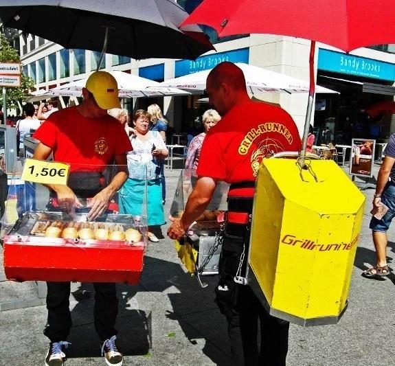 Street food berlin wurst vendor
