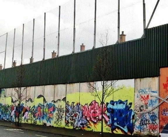 Peace wall in Belfast