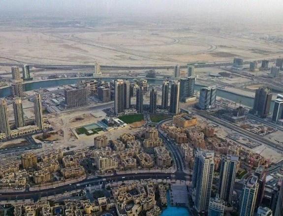 Burj Khalifa Dubai view desert