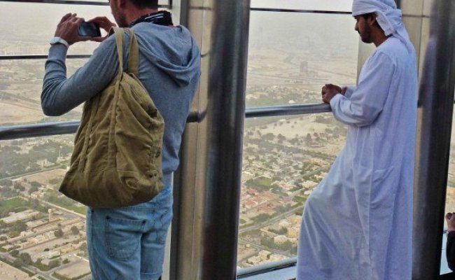 Atop The Burj Khalifa The Tallest Building In The World