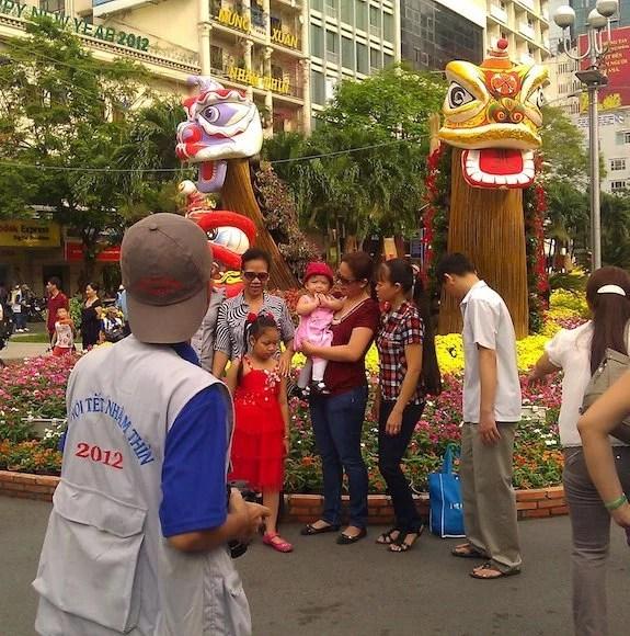Nguyen Hue Flower Street-Ho Chi Minh City-Family