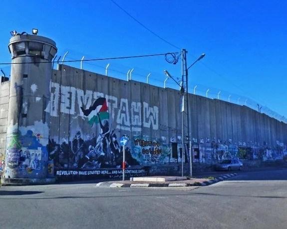 Israel defense wall guard tower