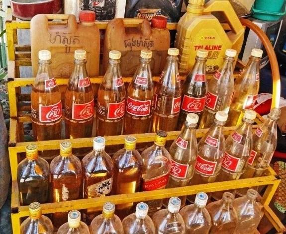 Petrol coke bottles
