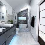 high tech bathroom remodel in atlanta inside houzz A Chopped-Up Bathroom Goes Streamlined and Swank