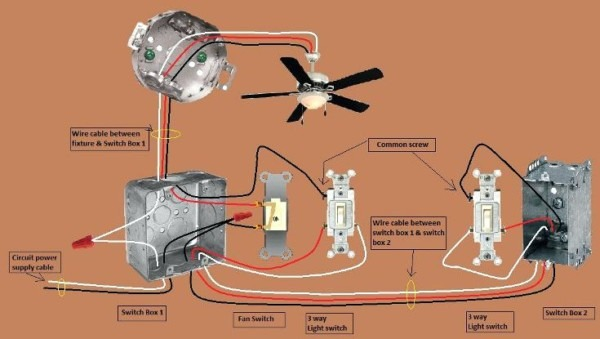 3 Way Switch For Ceiling Fan And Light Diagram