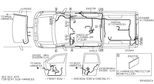2006 Nissan an Wiring Harness - Auto Electrical Wiring Diagram on