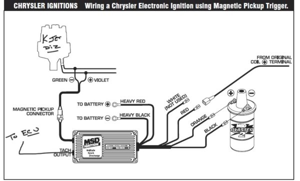 msd 6aln wiring diagram with ballast resistor
