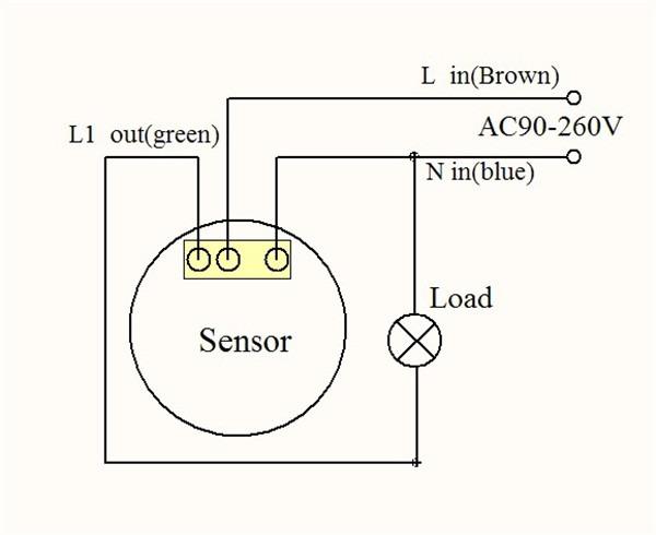 wiring a pir light sensor